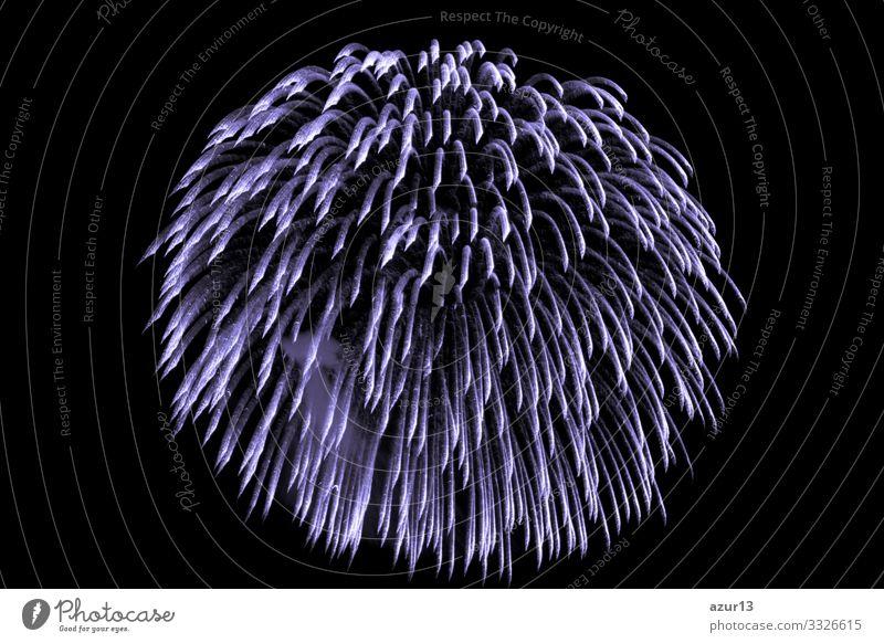 Luxuriöses, schönes, lilafarbenes Feuerwerk mit Himmelsdusche Reichtum Dusche Stern Entertainment Veranstaltung zeigen Party Stadtfest Nachtleben Pyrotechnik