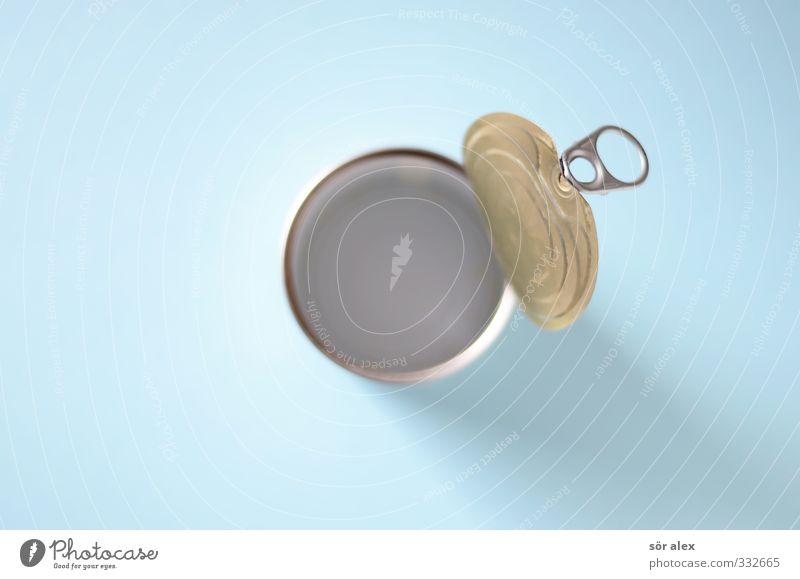 Mogelpackung Ernährung Handel Dose Metall lecker blau leer aufmachen Haltbarkeit konserviert rund Lebensmittelkontrolle Kunde Produkt Verpackung