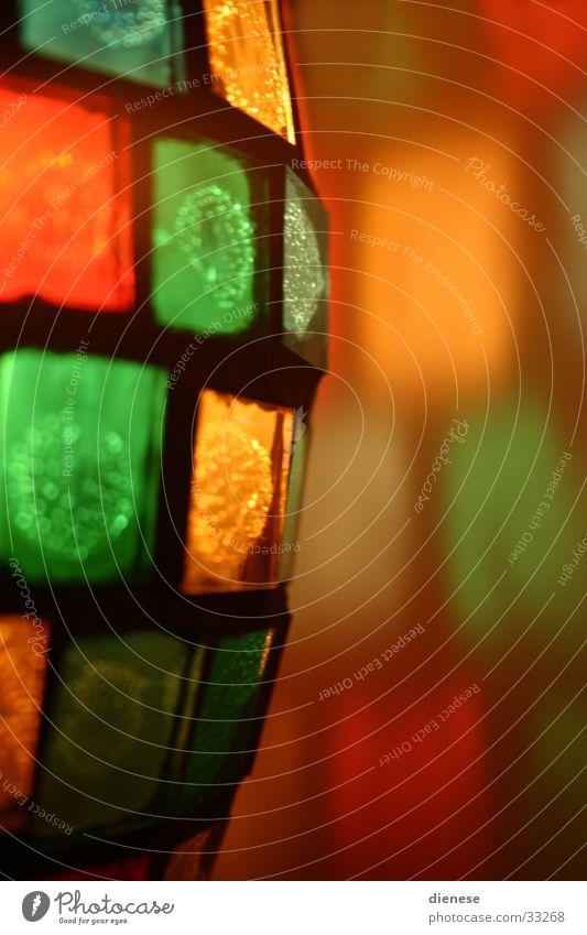 Lampe Licht mehrfarbig Häusliches Leben Wärme Glas