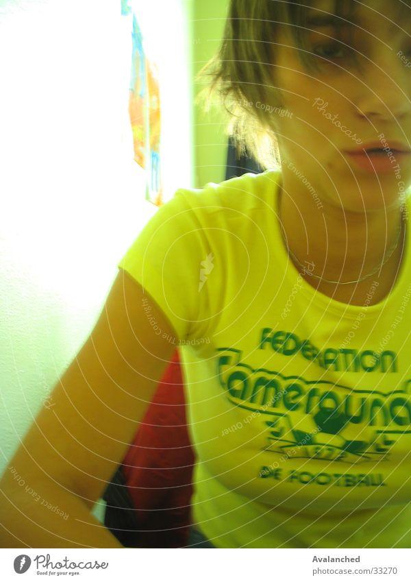 weiblich .. Frau gelb madchen
