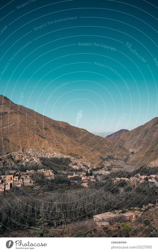Das Atlasgebirge von Marokko, Berberdörfer schön Ferien & Urlaub & Reisen Tourismus Abenteuer Sommer Sommerurlaub Berge u. Gebirge wandern Haus Natur Landschaft