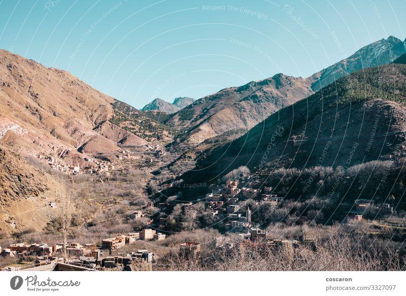 Das Atlasgebirge von Marokko, Berberdörfer schön Ferien & Urlaub & Reisen Tourismus Berge u. Gebirge wandern Haus Natur Landschaft Sonne Frühling Sommer