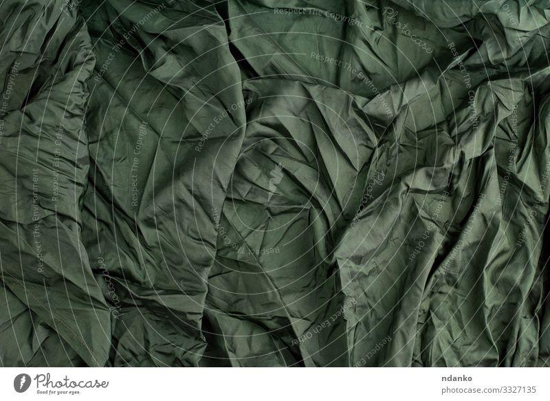 grüner Satin-Textilstoff Reichtum elegant Design Mode Stoff glänzend dunkel natürlich weich Farbe seidig Glanz Seide sanft Element Hintergrund Leinwand Sahne