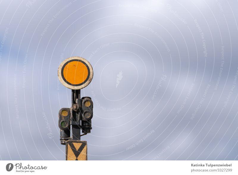 Vorsignal (Eisenbahn Modellbau) Industrie Verkehr Verkehrswege Bahnfahren Schienenverkehr Lokomotive Personenzug Schienenfahrzeug Bahnhof Gleise Schienennetz