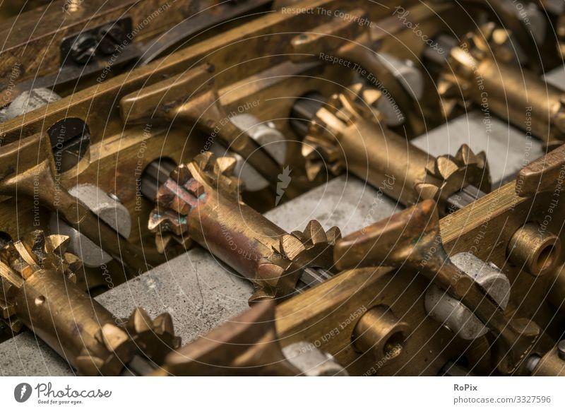 Historischer Mechanismus einer Rechenmaschine. Lifestyle Stil Freizeit & Hobby Modellbau Bildung Wissenschaften Arbeit & Erwerbstätigkeit Beruf Arbeitsplatz
