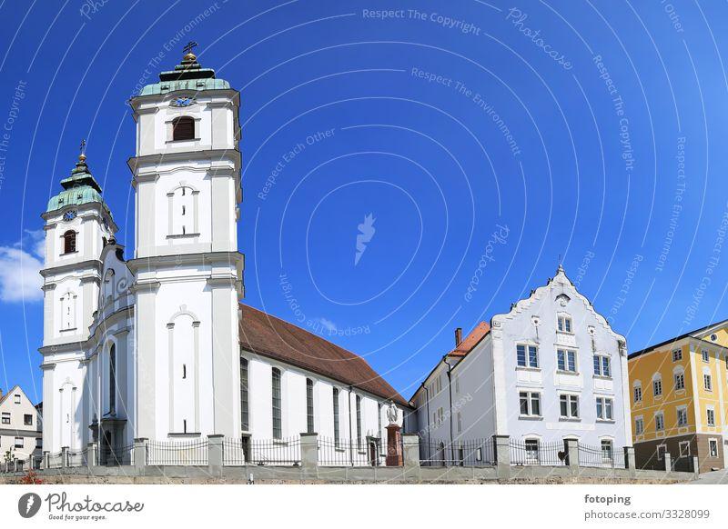Bad Waldsee schön Tourismus Ausflug Sightseeing Städtereise Sommer Sonne Wetter Stadt Altstadt Architektur Sehenswürdigkeit Wahrzeichen Denkmal historisch blau