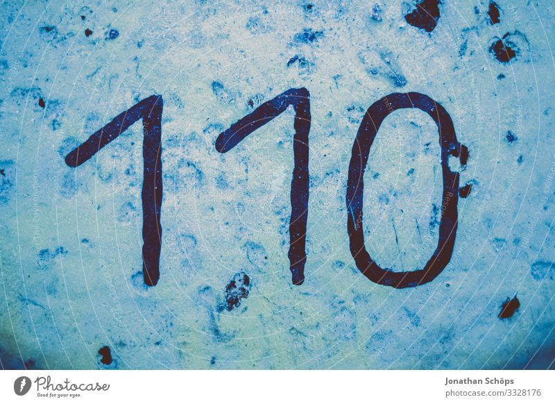 110 – Polizei Notruf Beruf trashig Polizist Notfall Staatsgewalt Politik & Staat Staatssicherheit Sicherheit Sicherheitskontrolle wählen Ziffern & Zahlen