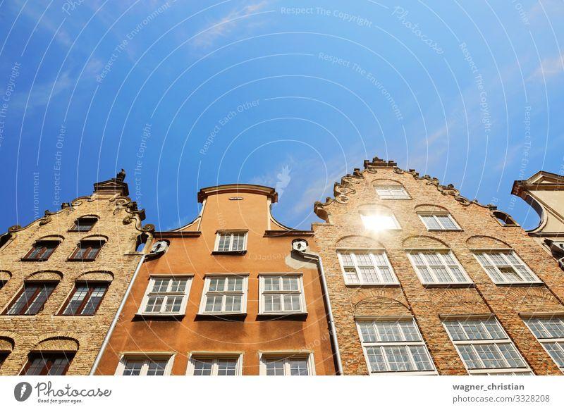 Historic houses, Gdansk Ferien & Urlaub & Reisen Sightseeing Städtereise Sommer Stadt Hafenstadt Stadtzentrum Altstadt Menschenleer Haus Einfamilienhaus Bauwerk