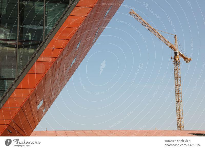 Modern construction Design Baustelle Wirtschaft Business Menschenleer Haus Gebäude Architektur Mauer Wand einfach Optimismus Fortschritt Wandel & Veränderung