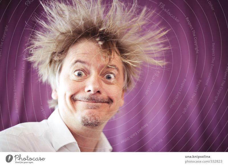 knallfrosch | happy new year Mann Erwachsene Haare & Frisuren Gesicht 1 Mensch 30-45 Jahre Hemd blond Bart lachen stehen außergewöhnlich fantastisch frech