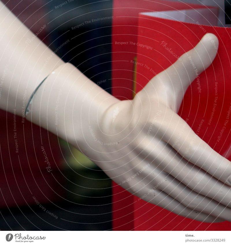 Handwerk hand schaufensterpuppe ansatz pappe deko finger rot