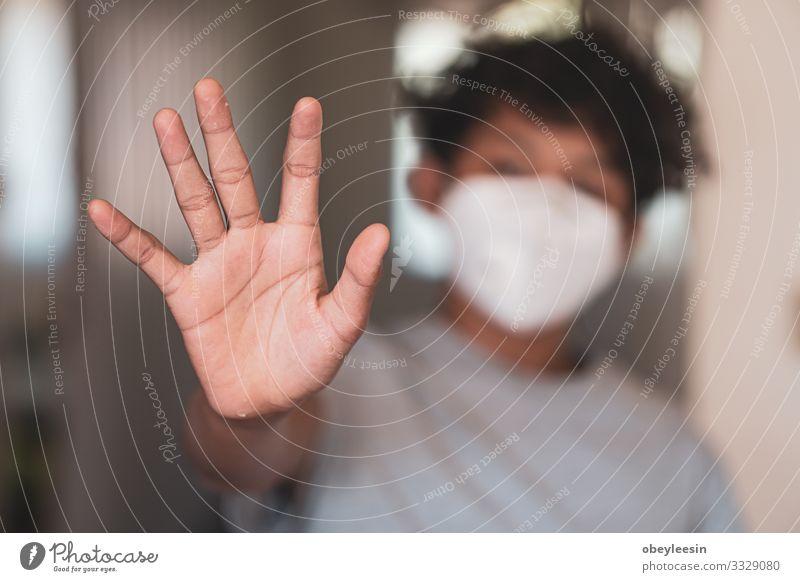 asiatischer Junge hebt seine Hand Lifestyle Gesicht Krankheit Ferien & Urlaub & Reisen Mensch Frau Erwachsene Verkehr Straße Schutz Umweltverschmutzung Virus
