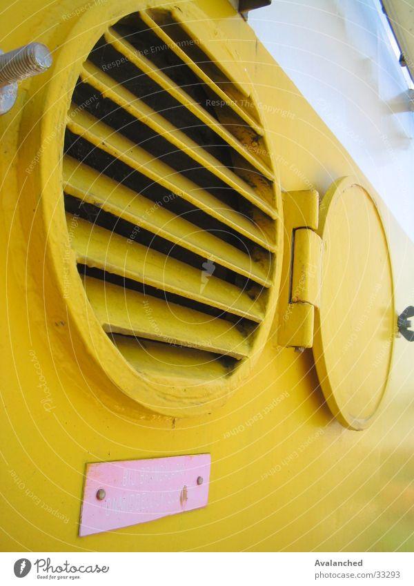 Luftevakuierung gelb Wasserfahrzeug Röhren Maschine Schifffahrt Klappe Evakuierung Luftevakuierung