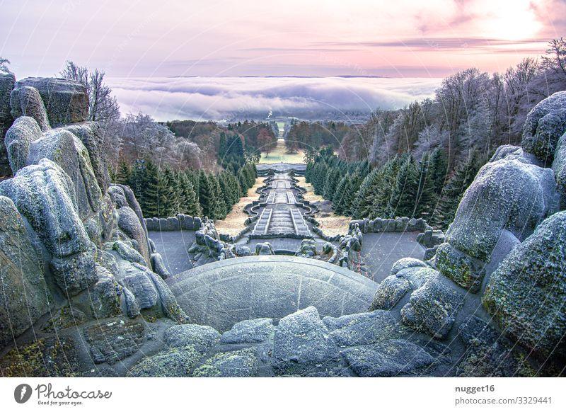 Kassel unter einer Nebeldecke Ferien & Urlaub & Reisen Tourismus Ausflug Berge u. Gebirge wandern Kunstwerk Architektur Umwelt Natur Landschaft Himmel Wolken