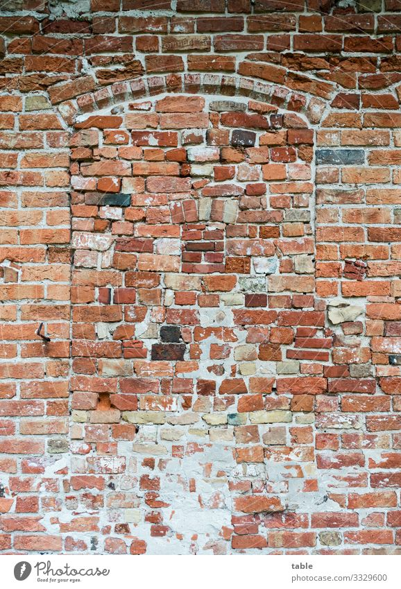 Stein um Stein... Haus Handwerker Baustelle Dorf Kleinstadt Burg oder Schloss Ruine Bauwerk Gebäude Architektur Stall Scheune Fenster Mauer Wand Fassade Beton