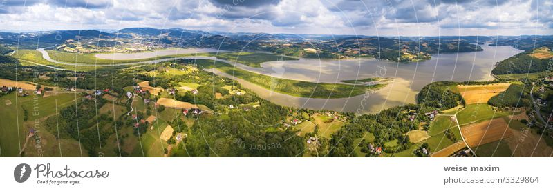 Himmel Ferien & Urlaub & Reisen Natur Sommer grün Wasser Landschaft Wolken Wald Ferne Berge u. Gebirge Umwelt Wege & Pfade Tourismus Freiheit See