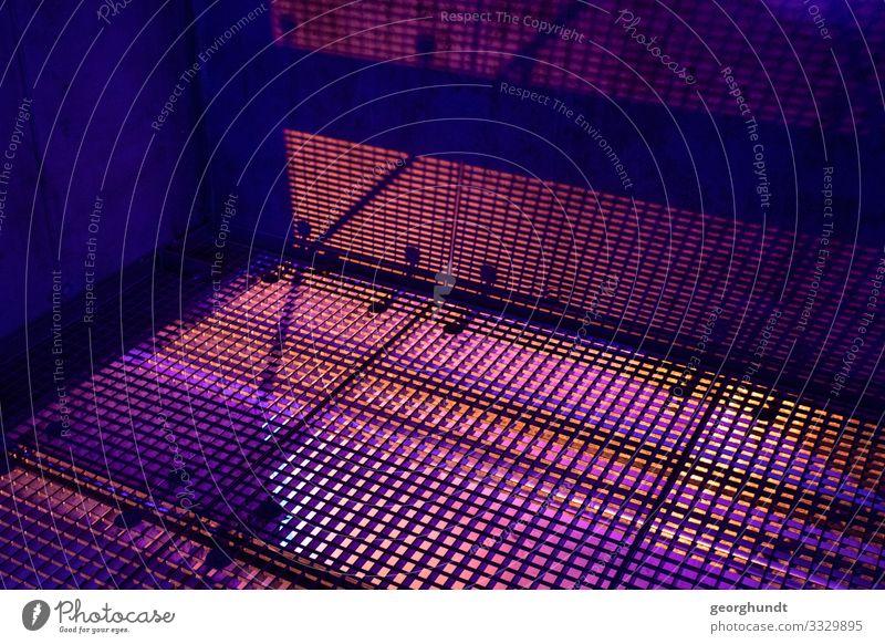 Lichtstanze kalt Kunst Mode Energiewirtschaft Technik & Technologie Telekommunikation Perspektive Zukunft Industrie bedrohlich festhalten violett Internet