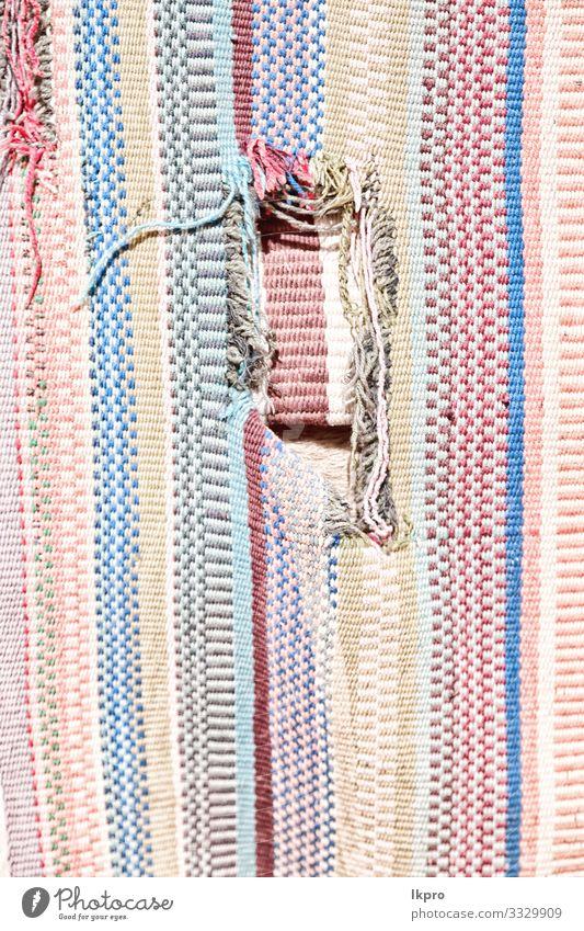 abstrakte Textur eines bunten Patchwork-Deckens Stil Design Dekoration & Verzierung Tapete Handwerk Kunst Kultur Mode Stoff Ornament dreckig hell modern schwarz
