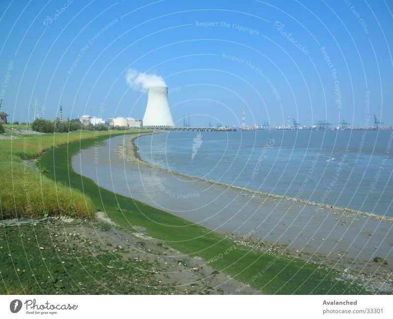 Kernbetrieb im verte Wasser Meer Wolken Stein Landschaft Verkehrswege Ebbe