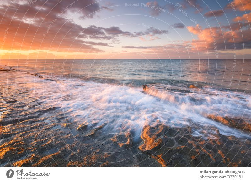 Kreta. Strand Meer Natur Felsen Küste Gelassenheit Europa mediterran Griechenland Crete Ierapetra Strand von St. Andrew Meereslandschaft winken Morgen