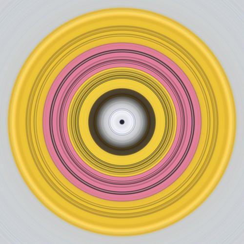 Das Zentrum Zirkel Kreis Podcast hypnotisch Unendlichkeit Mittelpunkt Netzwerk Kreativität komplex Farbe rund Perspektive Symmetrie Konzentration Yoga Idee