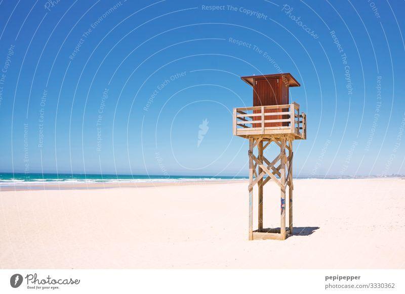 Hochsitz am Strand Freizeit & Hobby Ferien & Urlaub & Reisen Tourismus Ferne Freiheit Sommer Sommerurlaub Sonnenbad Meer Wellen Sport Wassersport