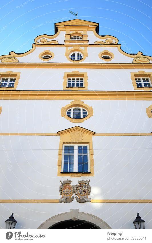 Kempten schön Tourismus Ausflug Sightseeing Städtereise Sommer Sonne Wetter Stadt Altstadt Architektur Sehenswürdigkeit Wahrzeichen Denkmal historisch blau