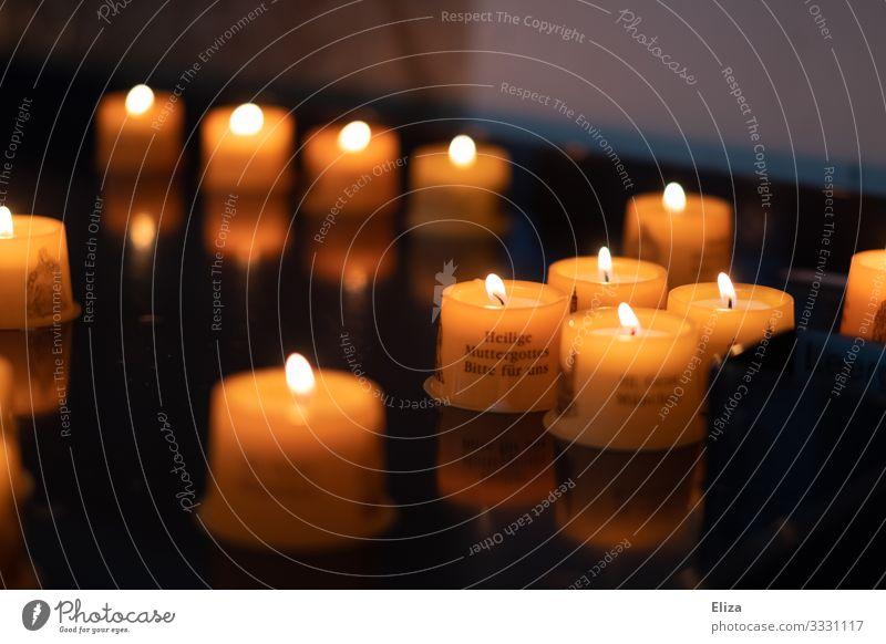 Geschriebenes | Glaube und Hoffnung Religion & Glaube Stimmung Schriftzeichen Kirche Kerze Wunsch Christentum Gebet heilig Katholizismus Maria erinnern