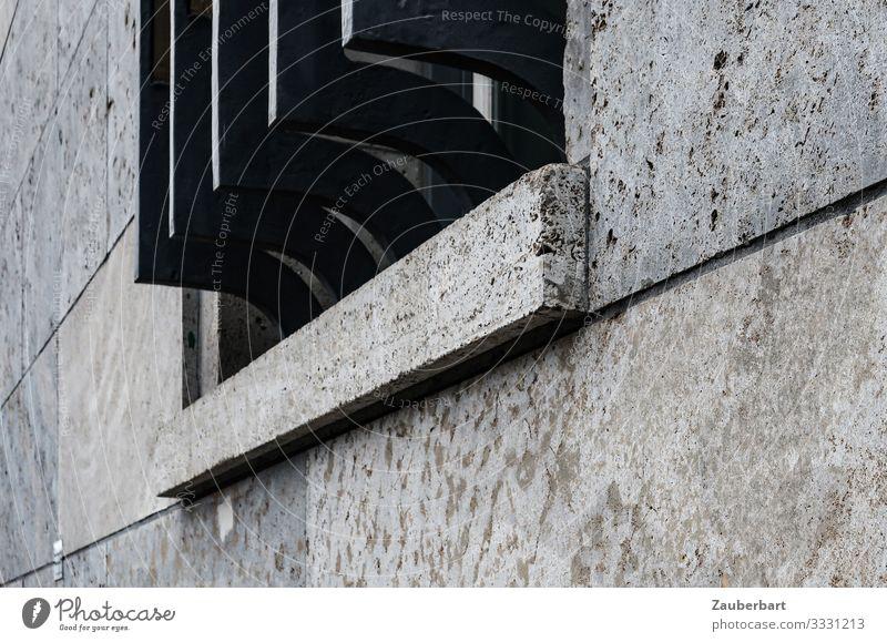 Massives Fenstergitter Berlin Berlin-Mitte Stadt Haus Bauwerk Architektur Ministerium Fassade Gitter Bundesministerium der Finanzen Stein Metall bedrohlich