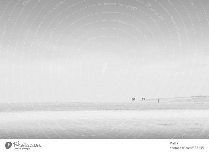 Rømø | weit Himmel Natur Landschaft ruhig Strand Umwelt Ferne Freiheit Küste grau Sand natürlich Luft gehen stehen frei