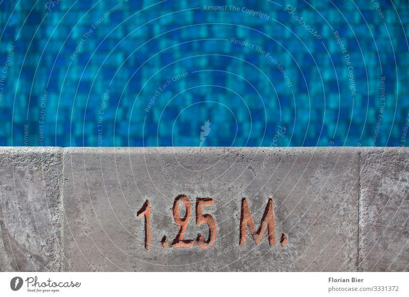 Nichtschwimmer Schwimmbad Schwimmen & Baden Schwimmsport Wassersport Bademeister Arbeitsplatz Beton Ziffern & Zahlen Schilder & Markierungen Hinweisschild