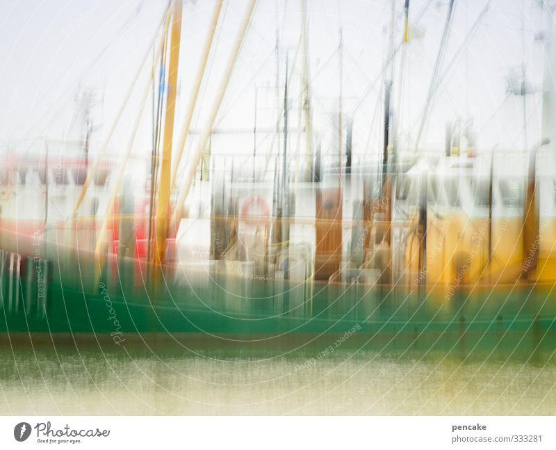 Rømø | rolling home Ferien & Urlaub & Reisen grün Wasser Meer gelb Bewegung Metall Arbeit & Erwerbstätigkeit gefährlich Fisch fahren Hafen Sehnsucht Nordsee