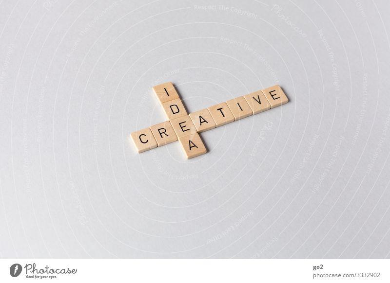 Idea / Creative Spielen Brettspiel Werbebranche Karriere Erfolg Spielstein Holz Schriftzeichen ästhetisch einzigartig Design Idee innovativ Inspiration