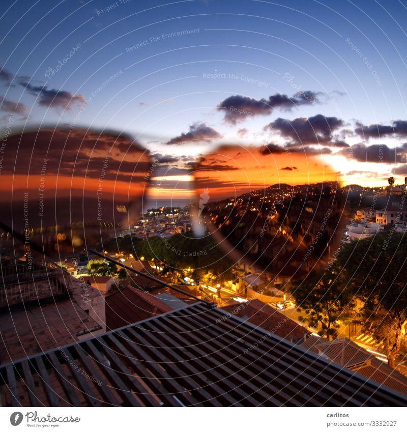 Funchal | Goldene Zeiten Portugal Madeira Hauptstadt Altstadt Panorama (Aussicht) Licht Nacht Abenddämmerung Sonnenbrille Frühling Tourismus Senior Altenteil