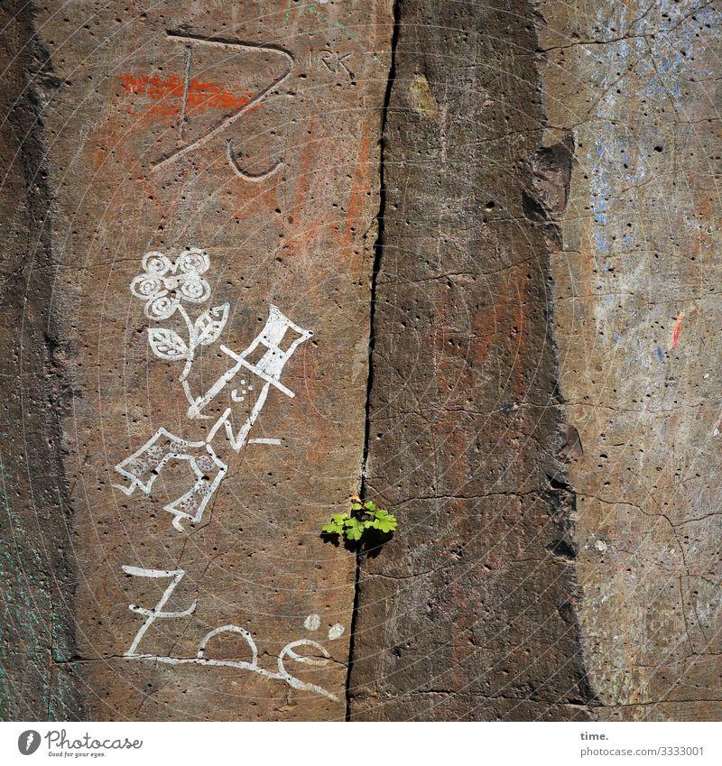Tanzende Frau mit Hut und Blume von Zoë Erwachsene 1 Mensch Kunst Gemälde Zeichnung Schönes Wetter Pflanze Felsen Hose Furche Spalte Stein Zeichen
