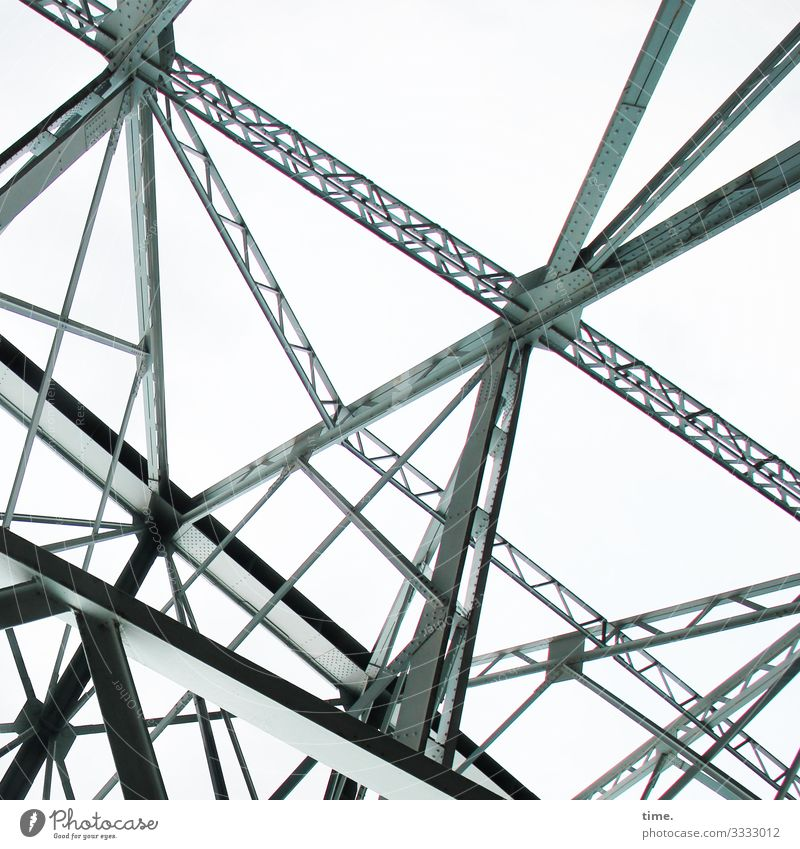 Halswirbelsäulentraining (33) Himmel Dresden Brücke Bauwerk Architektur Sehenswürdigkeit Wahrzeichen Metall Stahl hoch rebellisch Kraft Zusammensein Leben