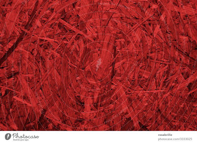 rote OSB-Platte als neutraler Hintergrund | Druckerzeugnis Holz Span Pressspan Späne abstrakt gepresst Verlegeplatte Bau Baustoff Wand Holzwand Ausbau