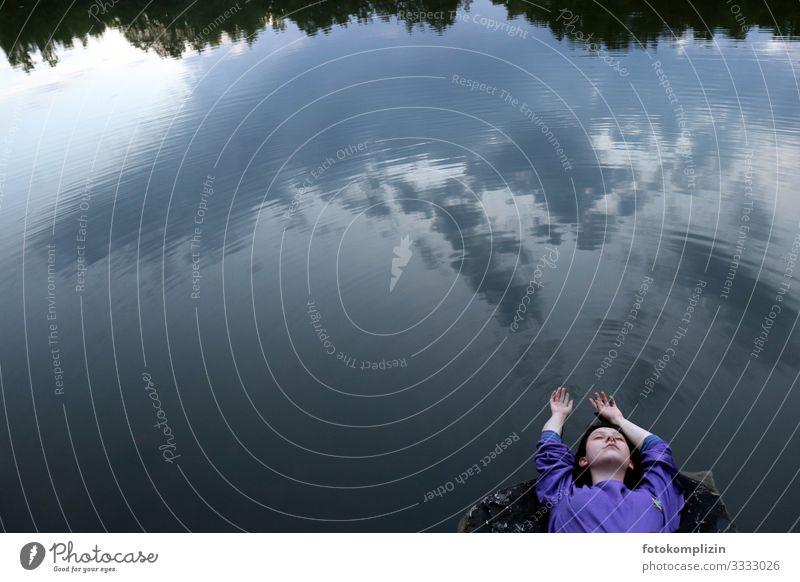 himmel frau 1 harmonisch Erholung ruhig Meditation Schwimmen & Baden Freiheit wandern Yoga feminin Junge Frau Jugendliche Erwachsene Leben Mensch Umwelt Natur
