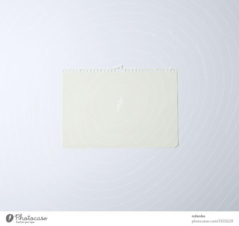 weißes Blatt Papier Design Büro Business schreiben Sauberkeit Farbe Plan Beitrag erinnern Erinnerung Schot Zeichen Single Hintergrund Transparente blanko Karton