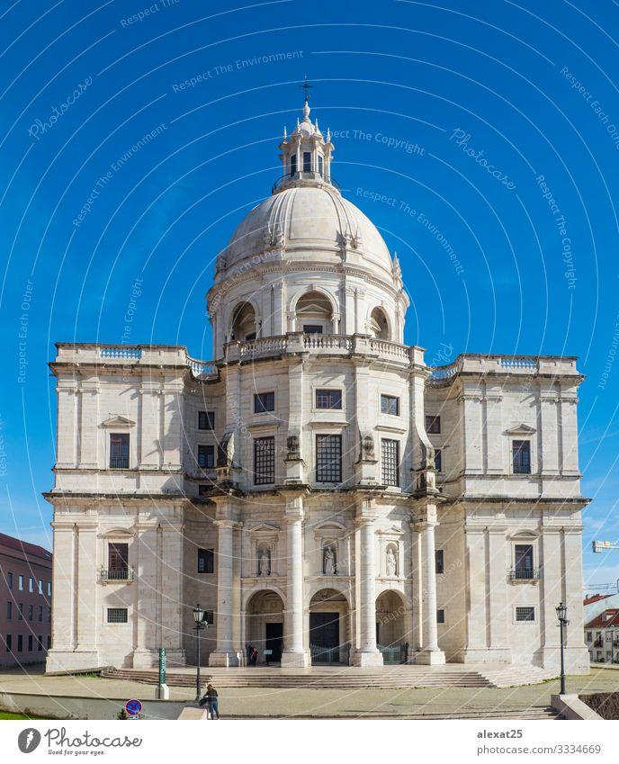 Nationales Pantheon in Lissabon (Portugal) Ferien & Urlaub & Reisen Tourismus Sightseeing Himmel Kirche Gebäude Architektur Denkmal alt historisch blau weiß