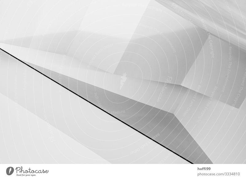 Treppenhaus Gebäude Museum Mauer Wand ästhetisch elegant einzigartig modern grau schwarz silber weiß bizarr Design Zufriedenheit innovativ komplex Kunst Ordnung