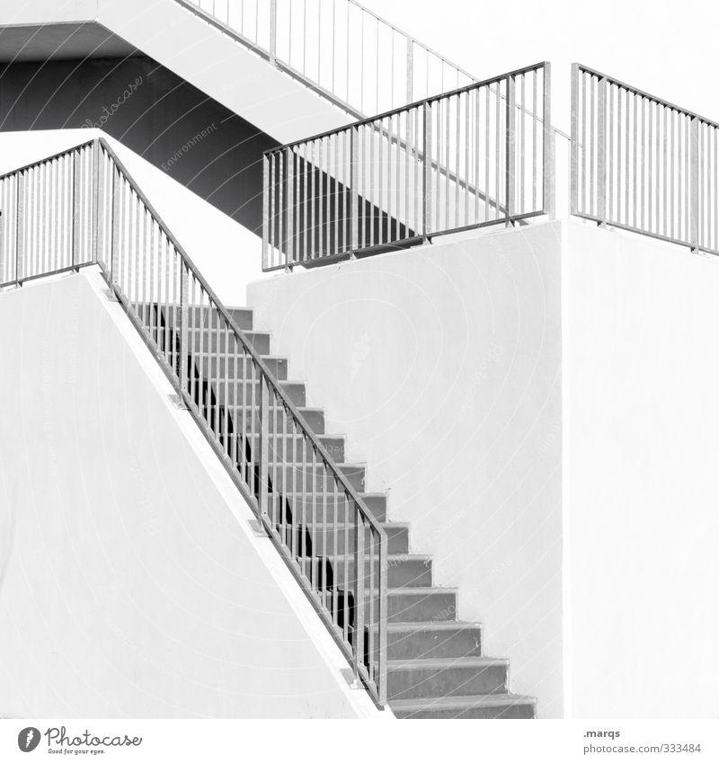 Step by Step elegant Stil Design Karriere Architektur Treppe Geländer Treppengeländer hell modern Beginn ästhetisch Ordnung Wege & Pfade aufwärts aufsteigen