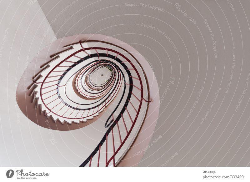 9 Stil Design Innenarchitektur Karriere Treppe Zeichen hoch modern rund weiß Perspektive Präzision Wege & Pfade Wendeltreppe oben aufsteigen hell Farbfoto