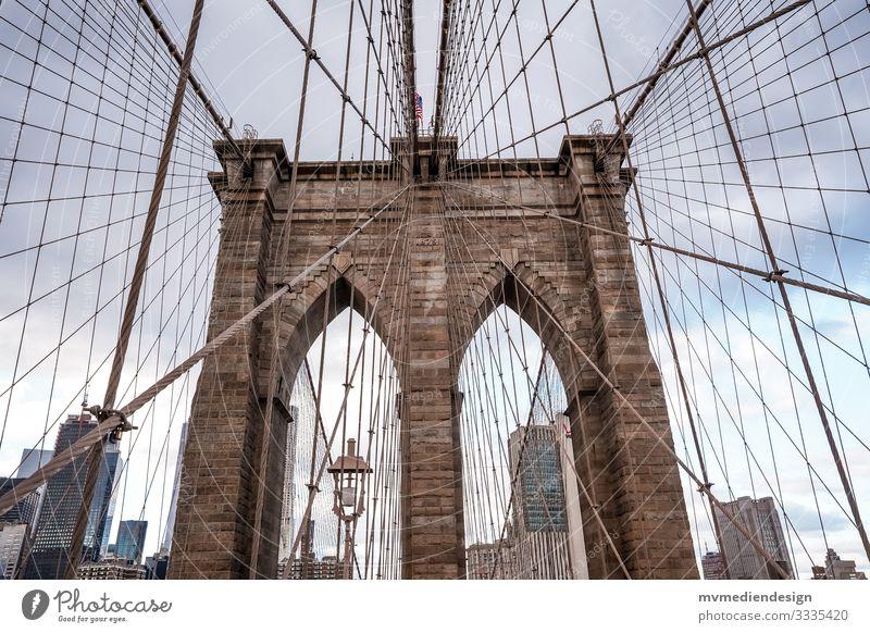 Brooklyn Bridge New York City USA Brücke Bauwerk