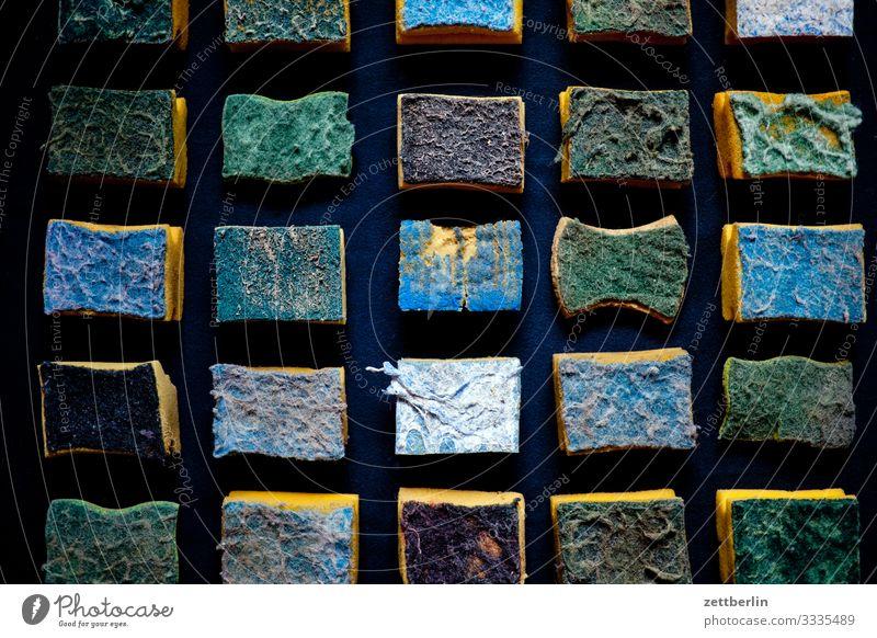 Alte Schwämme Textfreiraum Ordnung Reinigen Sauberkeit viele Körperpflege Material Reihe Menschenmenge Verschiedenheit Trennung Haushalt Spalte