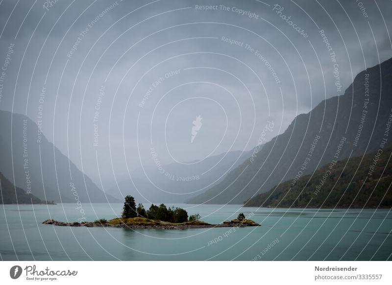 Norwegen im Regen Ferien & Urlaub & Reisen Abenteuer Ferne Freiheit Expedition Natur Landschaft Urelemente Wasser Himmel Wolken Gewitterwolken Klima
