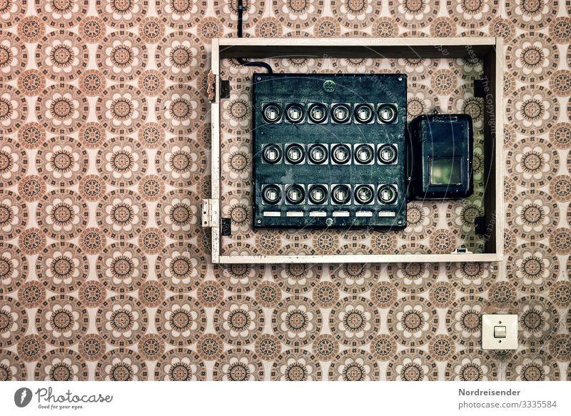 Installation Häusliches Leben Wohnung Renovieren Innenarchitektur Tapete Raum Handwerker Energiewirtschaft Technik & Technologie Architektur Mauer Wand alt