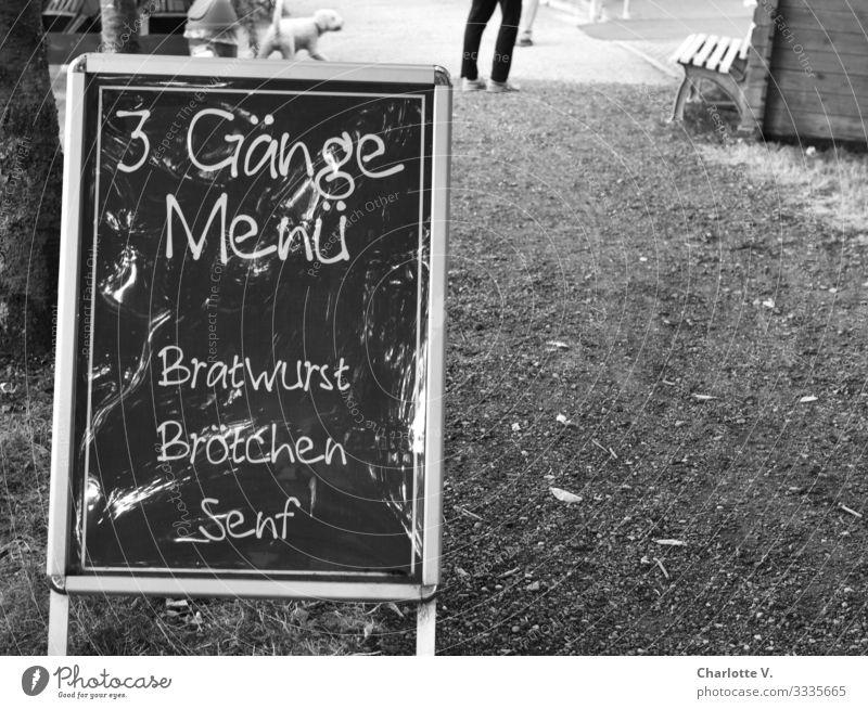 Für Puristen | Geschriebenes Hund Speise Tier Essen Lifestyle Stil Deutschland Ausflug Ernährung retro Schriftzeichen genießen authentisch Hinweisschild