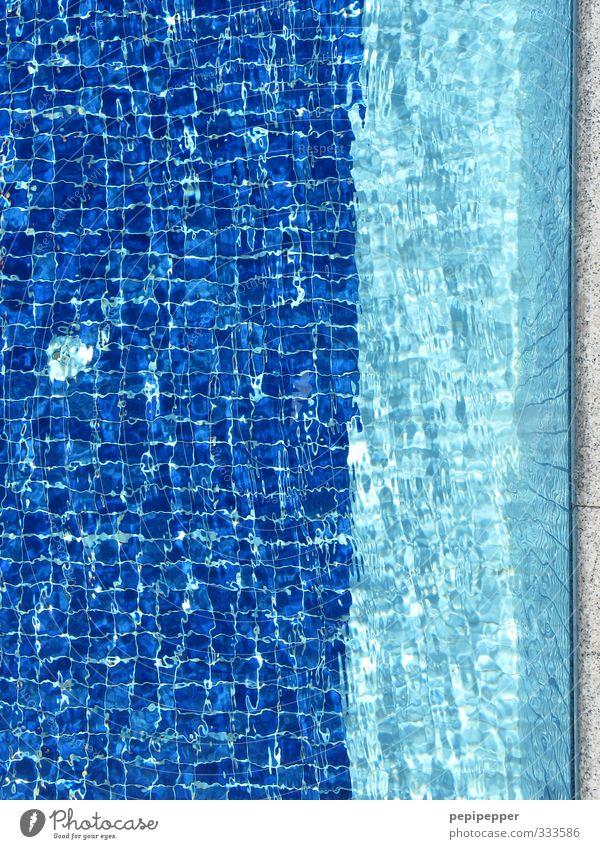 poollandschaft Ferien & Urlaub & Reisen blau Sommer Freude Stein Schwimmen & Baden Linie Wellen Freizeit & Hobby Tourismus Häusliches Leben Streifen Schwimmbad