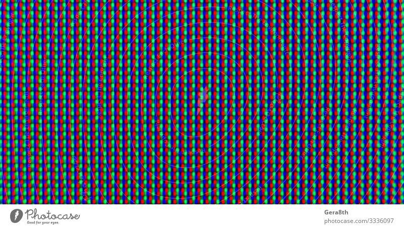 abstraktes Hintergrundmuster aus farbigen, verschwommenen Punkten Stil Design Dekoration & Verzierung Tropfen dunkel hell modern blau grün schwarz Farbe